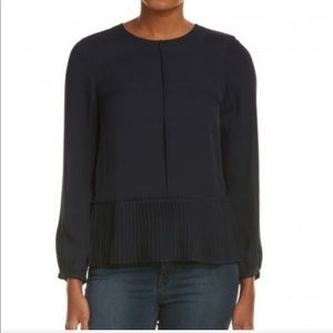 Rebecca taylor pleated top blouse